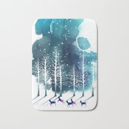Winter Night 2 Bath Mat