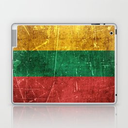 Vintage Aged and Scratched Lithuanian Flag Laptop & iPad Skin