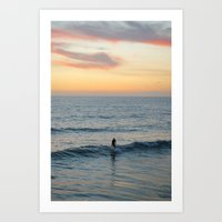 surfer Art Prints featuring Surfer by Mary Curtis