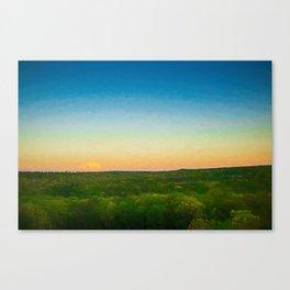Dusk Falls Over The Pocono Mountains Canvas Print
