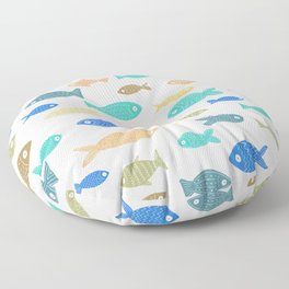 Colorful Fish Floor Pillow