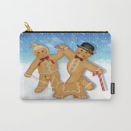 Gingerbread Family Winter Fun Carry-All Pouch