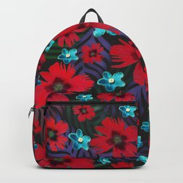 Carnations & Columbine Flowers Backpack