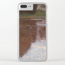 Gustav Klimt - Tranquil Pond Clear iPhone Case