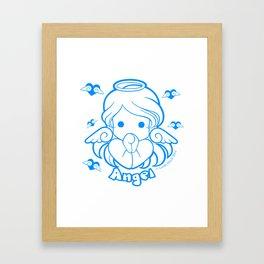Kawaii Kiddies Cute Angel Framed Art Print