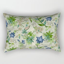 Alpine Flowers - Gentian, Edelweiss Rectangular Pillow