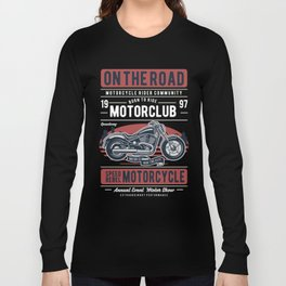 Motorcycle On The Road Long Sleeve T-shirt