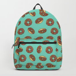 Chocolate donuts on Aqua Backpack
