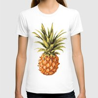 pineapples T-shirts featuring Pineapples Pattern by JunkyDotCom