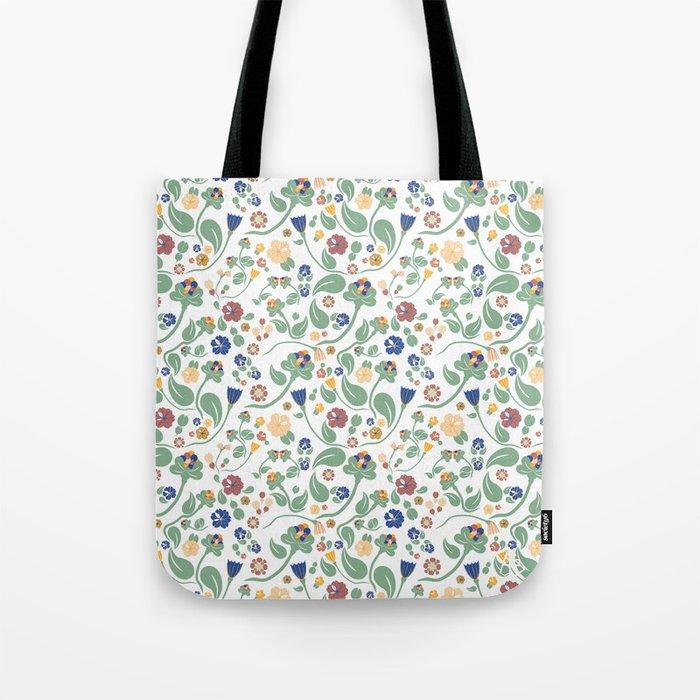 Scandinavian paisley Tote Bag