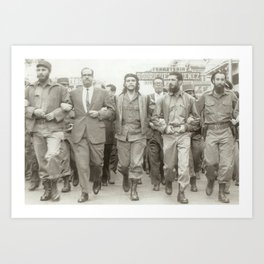 Che Guevara, Fidel Castro and Revolutionaries Art Print