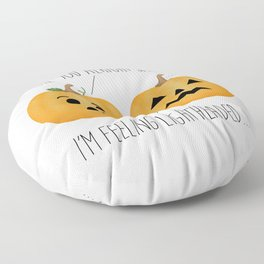 Lightheaded Jack-O-Lantern Floor Pillow