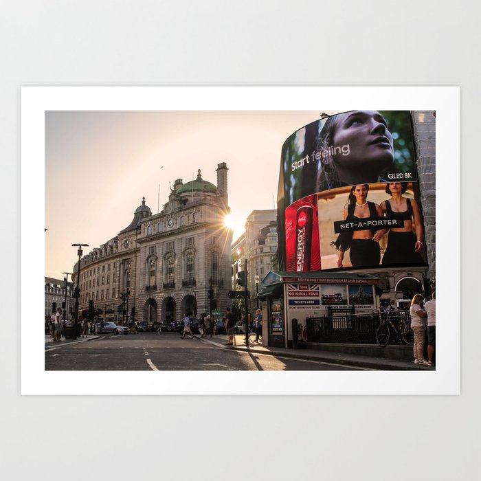 ArtWork London Piccadily Circus UK Photo Art Art Print