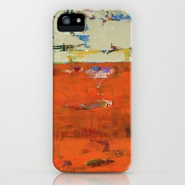 Roadrunner Bright Orange Abstract Colorful Art Painting iPhone Case