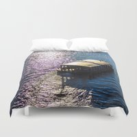 boat Duvet Covers featuring Boat  by Veronika