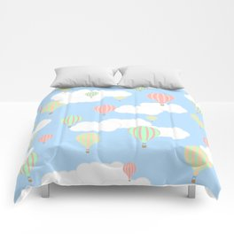 Hot Air Balloon In the Sky Comforters