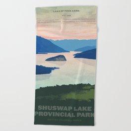 Shuswap Lake Provincial Park Beach Towel