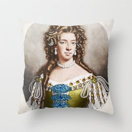 """Empress Consort"" Portrait Painting by Jeanpaul Ferro Throw Pillow"