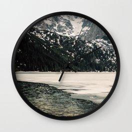 Morskie Oko In Snow Wall Clock