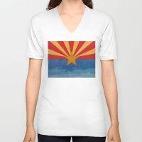 arizona V-neck T-shirts featuring Arizona by Michael Creese