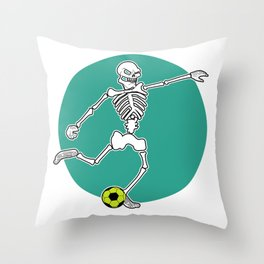 Calavera Soccer Throw Pillow