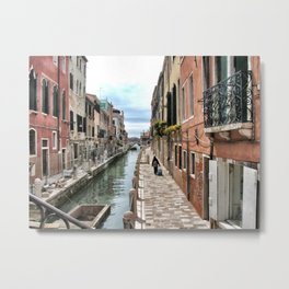 A Lonely traveler, Venice, 2006 Metal Print