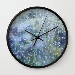 Soft Summer Rain Wall Clock