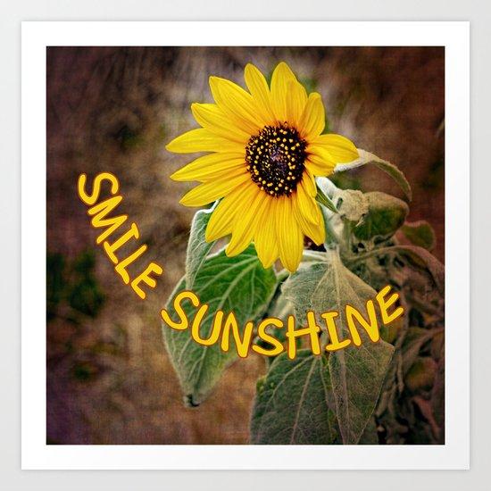 Smile Sunshine Art Print