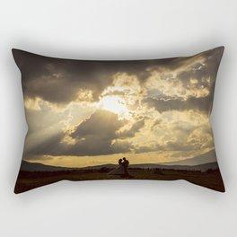 Backlit Boyfriends (Contraluz de Novios) Rectangular Pillow