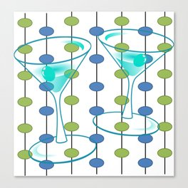 Mid-Century Modern Atomic Art Cocktails 1.0 Canvas Print