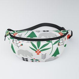 Fresh forest with bears Fanny Pack
