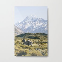 The Hut with the best view of Mt Cook Metal Print