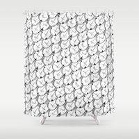 scales Shower Curtains featuring Scales by Sad Sea