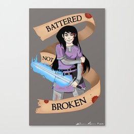 Battered Not Broken Canvas Print
