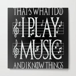 Music Lover Musical Notes Gift Motif Metal Print