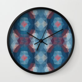 Triangles design in soft colors Wall Clock