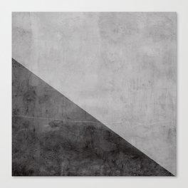 Concrete with black triangle Canvas Print