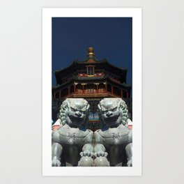 Forbidden City and The Summer Palace Beijing China Art Print
