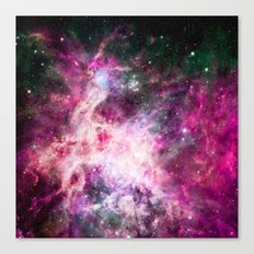 Pink purple nebula . Canvas Print