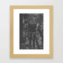 Girl in the Forest Framed Art Print
