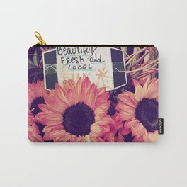 pink sunflowers Carry-All Pouch
