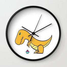 "A Real Tee For A Fat You Saying ""Struggle Is Real"" T-shirt Design Dinosaur T-rex Mommasaurus Belly Wall Clock"