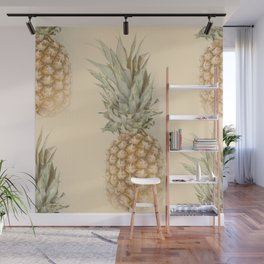 Pineapples On A Vintage Mood #decor #society6 Wall Mural