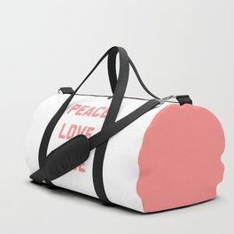 Peace Love Rosé Quote Duffle Bag
