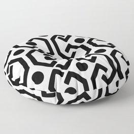 Ethnic Pattern (White) Floor Pillow