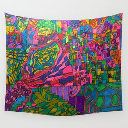 Many Exciting Shapes and Colors All in One Wall Tapestry