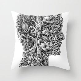portrait of summer Throw Pillow