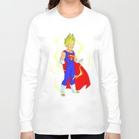 vegeta Long Sleeve T-shirts featuring SUPER VEGETA by Javier Guijarro