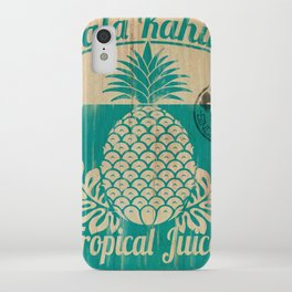Hala Kahiki Juice Stand wooden board. iPhone Case