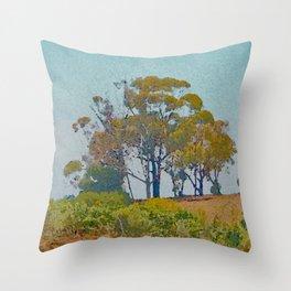 Eucalyptus Trees Throw Pillow